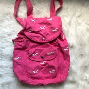 Neon Pink Hollister Backpack